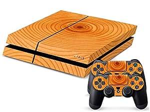 Fashion YHC Wood Grain Skin Sticker Decal-Barra luminosa para mando de Playstation 4 consola Controllers