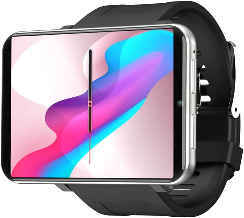 Alician New Reloj For Inteligente For LEMFO LEMT 4G Pantalla Grande de 2.8 Pulgadas 2700MAH Reloj GPS con Llamada de 5 Millones de píxeles Gris Plateado (1 + 16G)