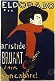 Eldorado-Aristide Bruant dans son Cabaret Henri de Toulouse-Lautrec (1864-1901/French) Lithograph is a licensed reproduction that was printed on Premium Heavy Stock Paper which captures all of the vivid colors and details of the original. The overall...