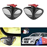PME Blind Spot Side Mirrors for Side Rear View Front Wheel Curb View Universal Vehicle Car Truck - 1 Pair Left & Right