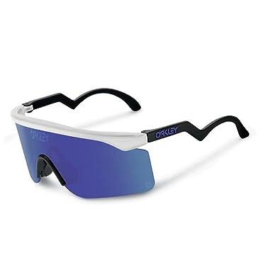 oakley sunglasses unisex  oakley unisex heritage razor blades sunglasses, matte clear/violet iridium, one size
