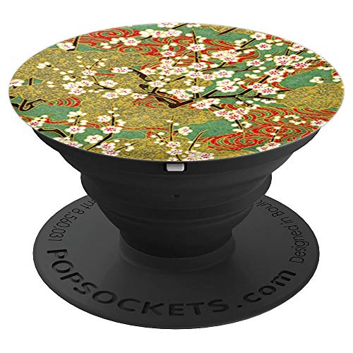 (Japanese Flowering Cherry Tree Blossoms Vintage Asian Flower - PopSockets Grip and Stand for Phones and Tablets)