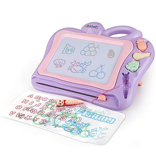 Large Magnetic Drawing Board for Kids, 16x13 Non Toxic Erasable Magna Doodles Board with Colorful Drawing Screens, Writing Painting Sketching Pad with 4 Drawing Templates for Toddler Boy Girl Skill De