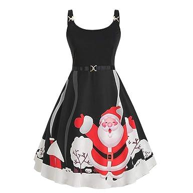 Vintage Mujer Papá Noel Y Patrón Vestido Falda Señoras Fuera del ...