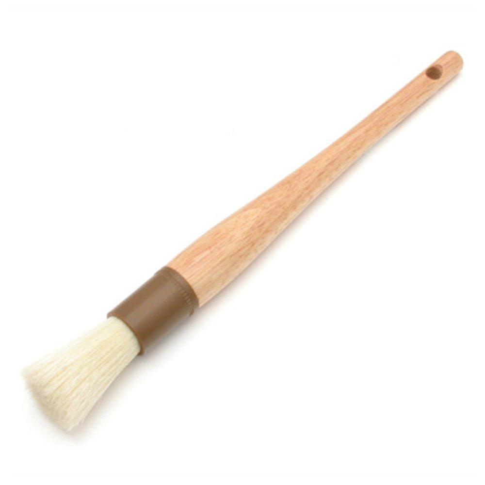 Update International WPBB-10R Round Pastry Brush Boar Bristles Brown Band 1'' Round