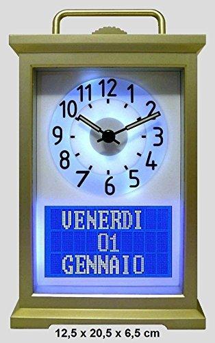 Calendario Digitale Per Anziani.Seniorclock International Orologio Da Tavolo Con Calendario Orologio Per Persone Che Soffrono Di Alzheimer Orologio Per Anziani