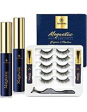 Magnetic Eyelash Kit - Arishine 3D Magnetic Eyelashes with Eyeliner Kit - Reusable Magnetic Lashes Natural Looking with Tweezer - Eyelashes Magnetic - No Glue Needed