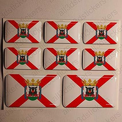 Pegatinas Vitoria España Resina, 8 x Pegatinas Relieve 3D Bandera ...