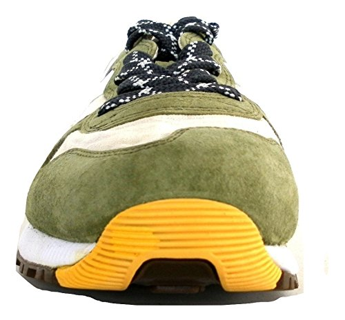 sneakers uomo diadora heritage trident 90c sw camoscio grigio verde Oliva