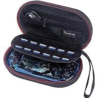 Smatree P100L bärväska till PS Vita 1000, PSV 2000 med lock (8 x 4,7 x 2,7 tum) (konsol, tillbehör och lock ingår INTE)