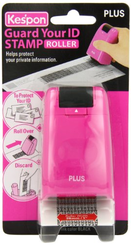 Kespon Guard Your ID Roller Stamp, Pink, Health Care Stuffs