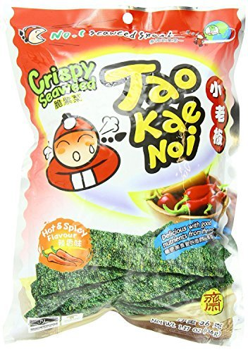 Crispy Seaweed Snack, Hot and Spicy, 1.27 Oz (Pack of 6) by Tao Kae Noi