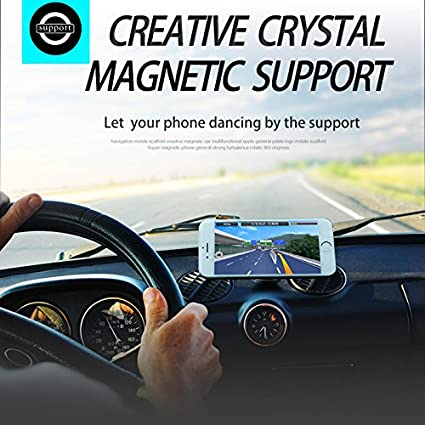 Sky Blue Blighty International 7.42415E+11 1 Car Mount, 2 Metallic Discs Strong Universal Magnetic Phone Holder Mobile Bracket Blighty Car Mount 6 Fantastic Fashionable Colors to Match Your Car.