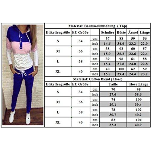 sport capuche de Juleya 2 pour Tenue shirt femmes Survtements Sweat Set Suit Sport Vtements de jogging pantalon pices d'hiver Gris 5zd4Aqq