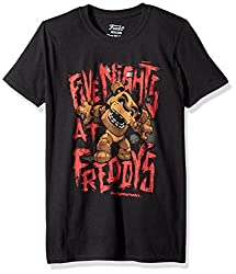 Funko Men's Pop! T-Shirts - Freddy Fazbear, Black, 2X