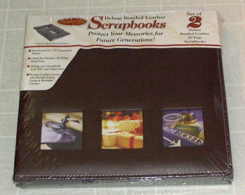 (Deluxe Bonded Leather Scrapbooks Memory Stor)