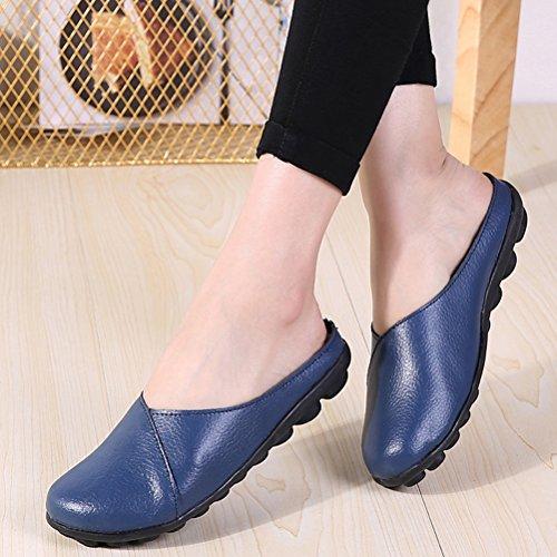 En Sandales Chaussons Femmes Cuir Style Pantoufles dark ZARA Blue Style2 MatchLife 34 Babouche EU 42 chaussures 1fXwzp