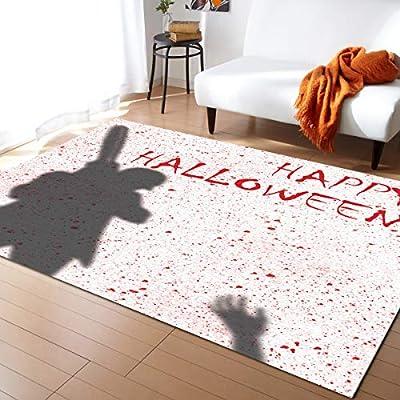 Family Decor Area Rug Pads, Happy Halloween Chainsaw Killer Area Rug Carpet for Living Room Bedroom Playing Room Hardwood Floors