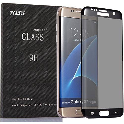 Galaxy S7 Edge Privacy Screen Protector,HYAIZLZ(TM) 9H Hardness 3D Tempered Glass Anti-Spy Screen Protector Shield for Samsung Galaxy S7 Edge,Color Black