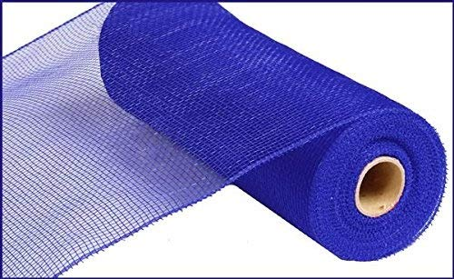 (10 inch x 30 feet Deco Poly Mesh Ribbon - Value Mesh (Royal Blue))