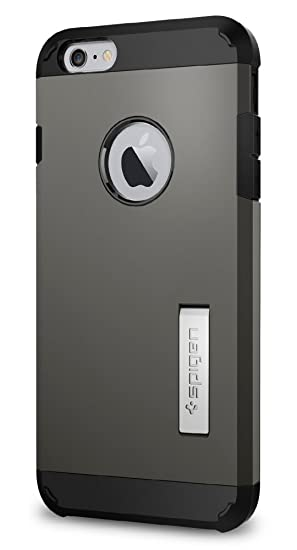 cheap for discount fec62 7d15d Spigen Tough Armor Designed for Apple iPhone 6S Plus Case (2015) - Gunmetal
