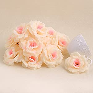 Mimgo Store Roses Artificial Silk Flower Heads DIY Small Bud Party Wedding Home Decor Pack of 20 48