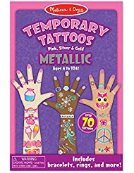 Melissa & Doug Temporary Tattoos - Metallic Temporary Tattoos