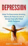 Depression: How To Overcome Anxiety, Worry & Fear & Live A Stress Free Life Filled With Purpose (Depression Cure, Treatment, Diet, Self Help, Social Insecurity, ... Attack, Negative Thinking, Stress Book 1)