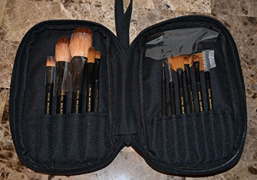 (New Royal Langnickel Taklon Goat Hair Makeup Brush Cosmetic Travel Bag Set )