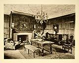1931 Photogravure Room Interiors Home Decor French Gothic Oak Panel Renaissance - Original Photogravure