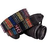 Wolven Canvas DSLR/SLR Digital Camera Neck Shoulder Strap Belt For Nikon/Canon/Sony/Samsung/Pentax/Olympus/Leica Camera ETC,Colorful Stripe Pattern