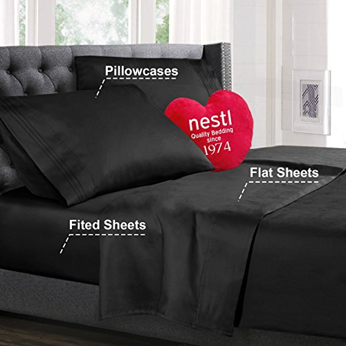 Cal King Size Bed Sheets Set Black published Pillowcase Sets