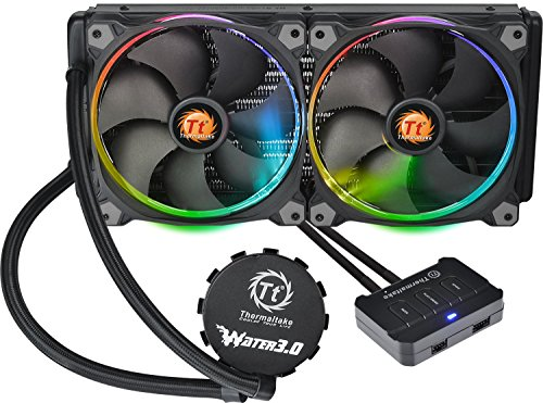 Thermaltake Water 3.0 LGA 2011-3 AM4 Support 280 Riing RGB Edition 140mm RGB PWM Fan AIO Liquid Cooling System 3 Year Warranty CL-W138-PL14SW-A