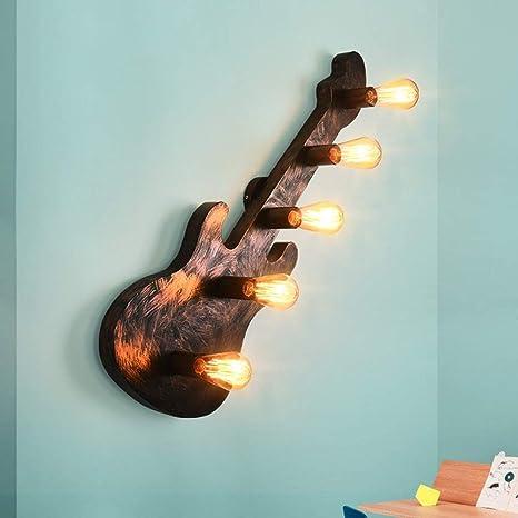 PIN Creative Wall Lighting- lámpara de Pared de la Guitarra ...