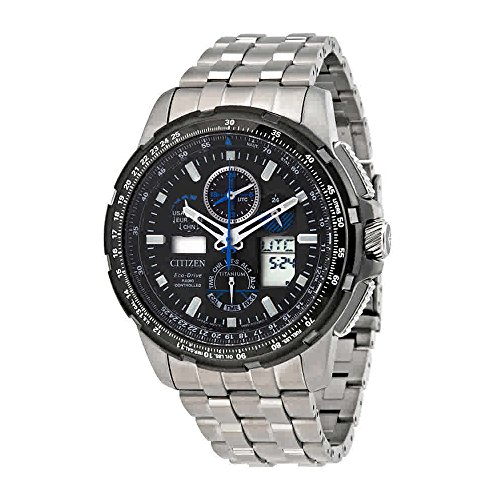 Atomic Chronograph (Citizen Men's Limited Edition Promaster Skyhawk A-T Super Titanium Silver Watch)