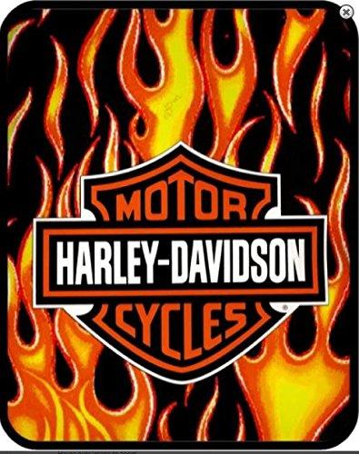 Harley-Davidson Blanket-60'' x 80'' Fresh FIRE Logo--Officially Licensed