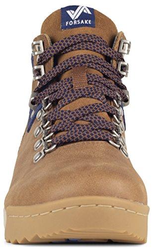 Leather Patch Waterproof Women's Hiking Forsake Brown Boot Navy Premium w7xzZZqIB