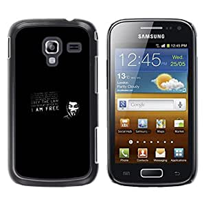 LECELL--Funda protectora / Cubierta / Piel For Samsung Galaxy Ace 2 -- V para la máscara de la venganza obedecer la ley --