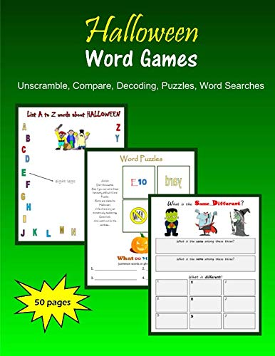 Halloween Word Games