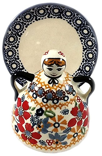Polish Pottery Lemon Lady or Mini Cheese Lady in Signature Pattern DPLC or Christmas Posies