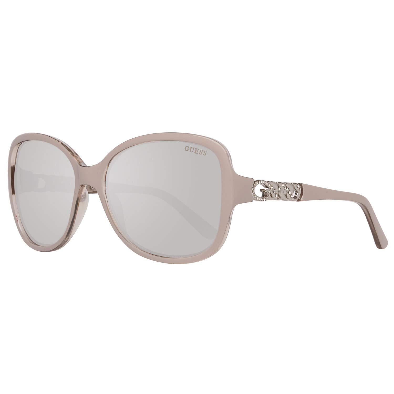 Guess Womens Sun GU7452 57C-59-17-135 Sunglasses Beige 59