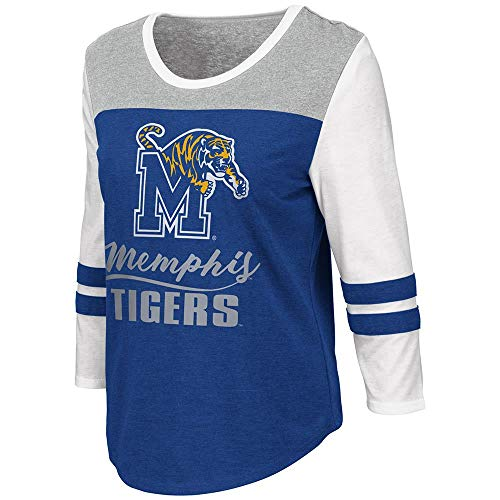 Colosseum Womens Memphis Tigers Palermo 3/4 Sleeve Tee Shirt - M