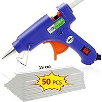 TedGem Heißklebepistole Klebepistole mit 50 Stücke 190 x 7 mm Klebesticks Heißklebesticks - Heißkleber für DIY-Handwerk und schnelle Reparaturen zuhause (20W, Blau)