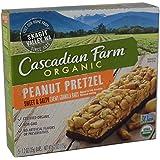 Cascadian Farm Organic Peanut Pretzel Chewy Granola Bars, 6.2 Ounce Box (Pack of 4)