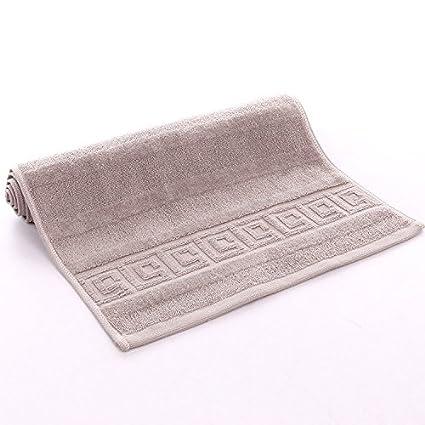 mmynl Pixel Color Fluffy toallas de algodón de 35 * 75 cm gris