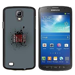 Qstar Arte & diseño plástico duro Fundas Cover Cubre Hard Case Cover para Samsung Galaxy S4 Active i9295 (Barcode Sangre)