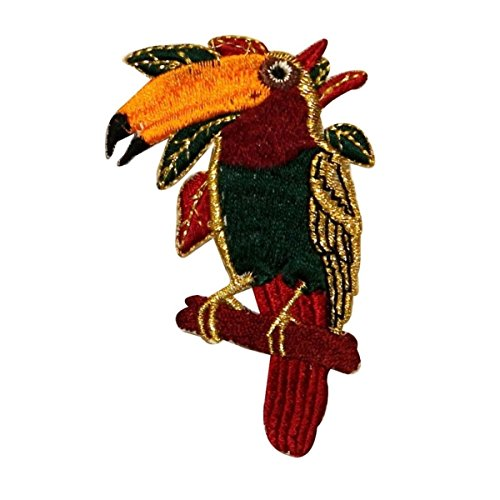 - ID 0533A Exotic Toucan Bird Patch Ocean Life Embroidered Iron On Applique