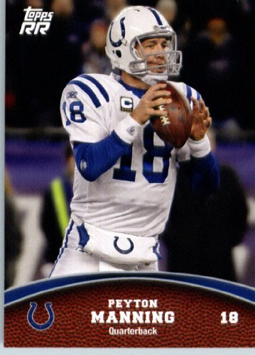 - 2011 Topps Rising Rookies Football Card # 20 Peyton Manning - Indianapolis Colts - NFL Trading Card Protective Screwdown Display Case