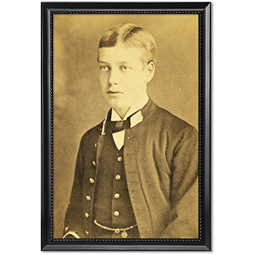 ClassicPix Black Wood Framed Print 11x17: Prince George of Wales, Circa 1880-1890