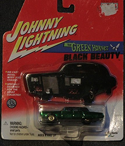 JOHNNY LIGHTNING HOLLYWOOD ON WHEELS CHROME GREEN EDITION THE GREEN HORNET BLACK BEAUTY DIE-CAST REPLICA (Johnny Lightning Collector)